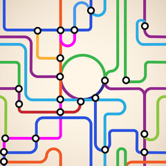 Abstract subway map seamless