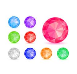 Diamond Stone Icon Set