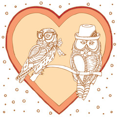 Pair of owl