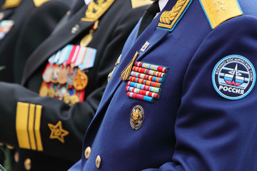 People in military uniform