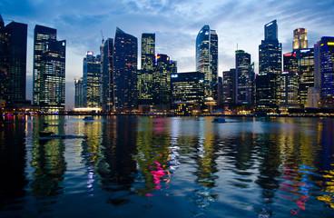 Singapore city scape at dust