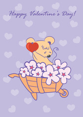 The cute card for Valentine's Day, the background