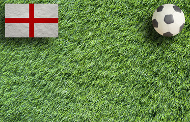 Plasticine Football on grass background