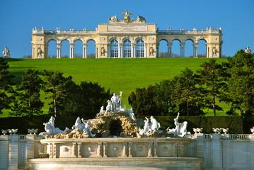 Foto op Plexiglas Wenen Gloriette, parco di Schönbrunn, Vienna