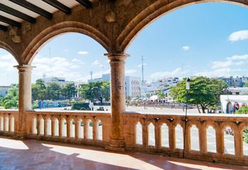 View on Plaza de España from Alcazar de Colon (Palacio de Diego