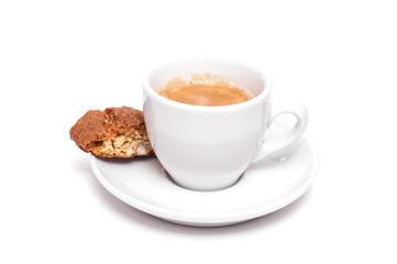 Tasse Espresso mit Cantuccini