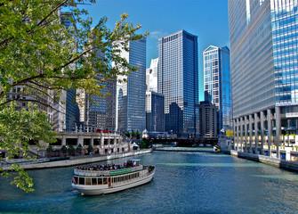 Papiers peints Chicago Boat Ride
