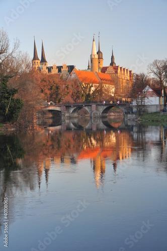 Fototapete Domblick zu Merseburg am Morgen