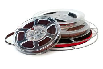 Reels of audio tape