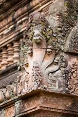 Naga Snake corner at Banteay Srei Temple