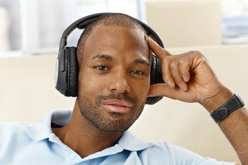 Handsome man with headphones