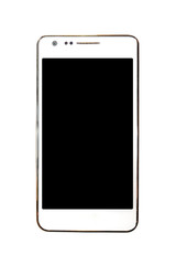 White Smartphone Isolated on white with clipping path