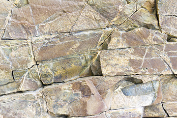 .stone rock with cracks