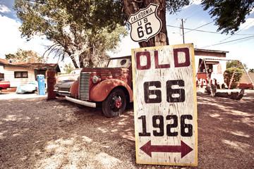 Fotobehang Route 66 Roure 66 artefacts