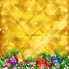 Christmas golden background and place for your text.
