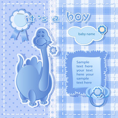 Blue background for boy