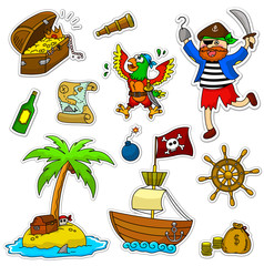 a set of pirate related icons