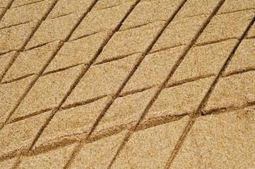 patterned sand