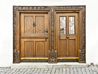 wooden doors in Ulm Germany