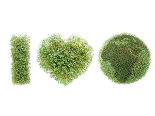 Watercress-grown I love Earth acronym