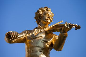 Wall Murals Vienna Johann Strauss Statue in Vienna