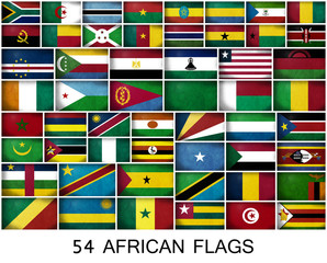 54 AFRICAN FLAGS