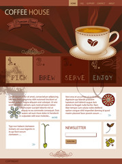 Web Site Template for a Coffee Shop