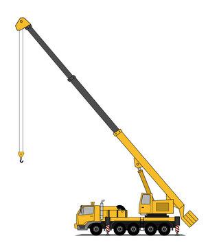 Heavy crane truck
