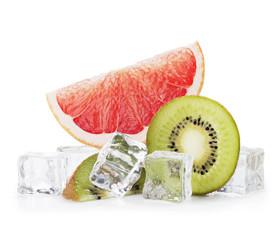 Foto op Canvas In het ijs Grapefruit and Kiwi