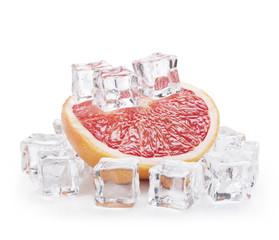 Foto op Canvas In het ijs Grapefruit