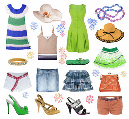 collection summer clothes