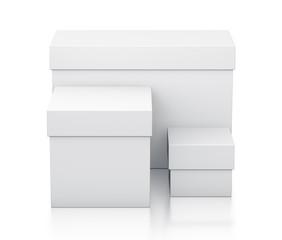 Various white boxes.