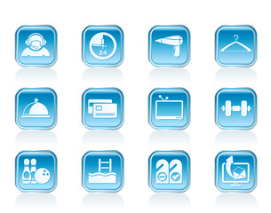 hotel and motel amenity icons vector icon set