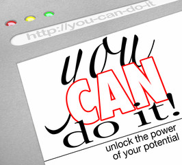 You Can Do It Self Help Website Screen