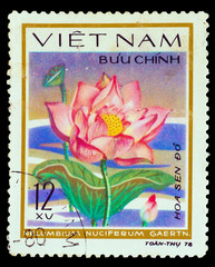 VIETNAM - CIRCA 1978: A stamp printed in VIETNAM, shows Sacred l