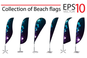 Vector Beach Flag banner stand display