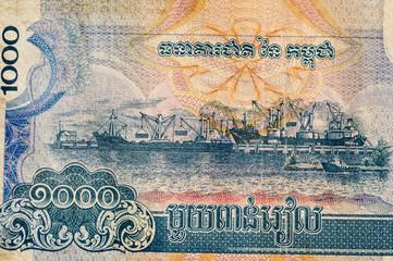 Port of Sihanoukville banknote, Cambodia