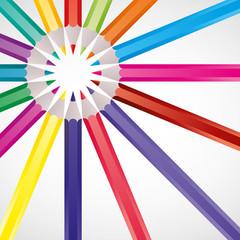 vecteur, crayons de couleur