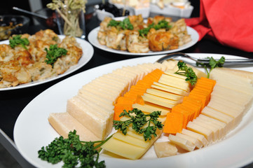 Cheese appetizer for wine tasting