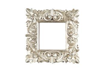 Square silver frame