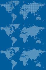 Poster Carte du monde Dotted world maps