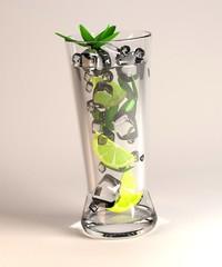 3d render of alcohol drink