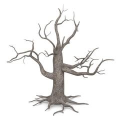 3d render of dead tree