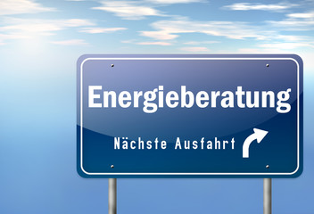 """Autobahnschild """"Energieberatung"""""""
