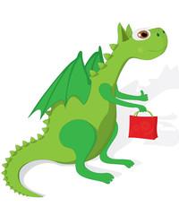 Green cute dragon