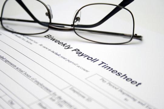 Biweekly payroll timesheet