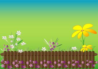 Spring garden theme, space for your text,vector