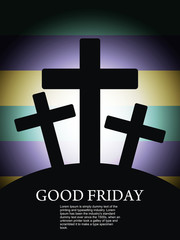 Religious and beautiful background for good friday.