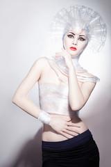 creative photo beautiful girl