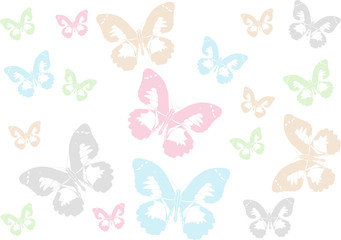 light color butterfly background